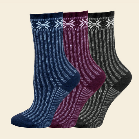 Organic wool sweater socks