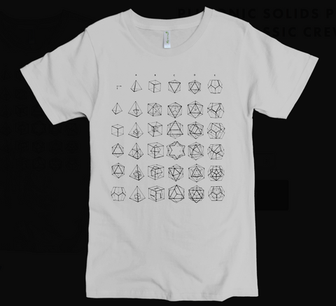 Platonic Solids Organic Cotton Men's t-shirt - Light Grey