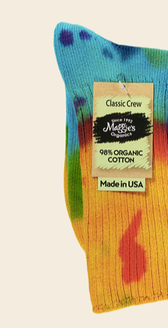 Tie-Dyed Organic Cotton Crew Socks - Bold or Lite