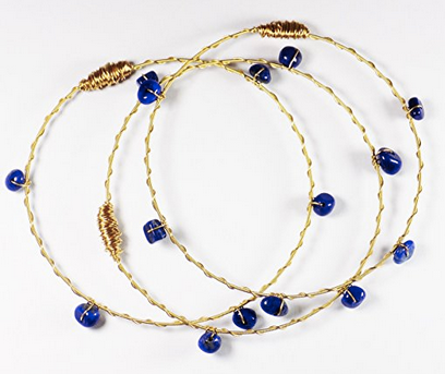Guitar String Bangles - Blue Upland Road | Eco-Boutique