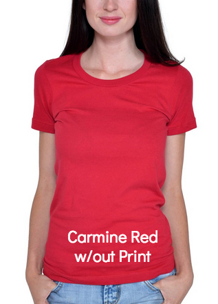 Carmine Red Human Being Shirt (without print)