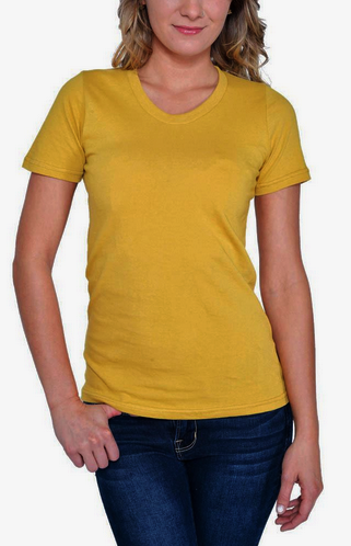 QUEEN BEE Organic Cotton T-Shirt - Available in Natural, Smokey Teal and Honey