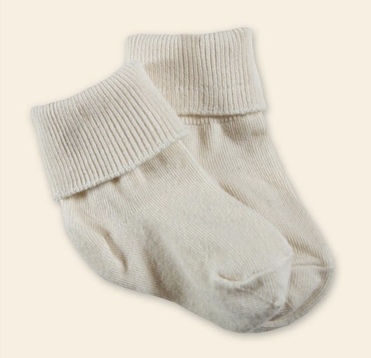 Organic Cotton Ankle Socks - Infants & Toddlers - 2 pairs - Undyed