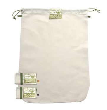 organic cotton hemp produce bag with drawstring