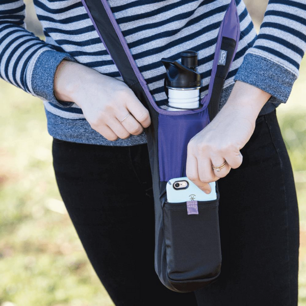 Bottle Sling from recycled materials, purple