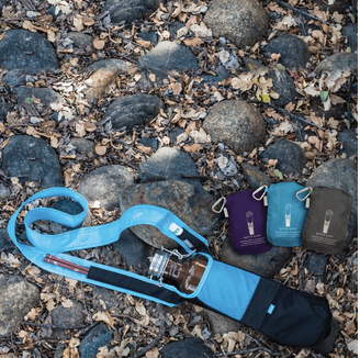 Bottle Slings - in 3 colors - Made from recycled materials in Green, Purple & Aqua