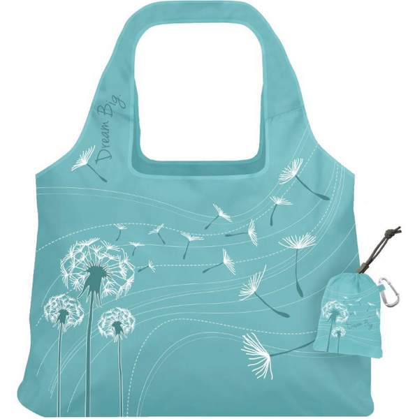 Vita Bag Inspire - Reusable Shopping Bag - 3 Prints/Colors  - Stuffs into sewn-in pouch!