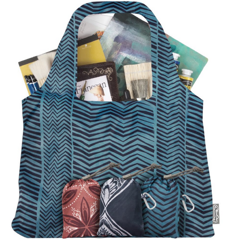 Vita Bag Bohemian Zig Zag Stripe reusable shopping bag
