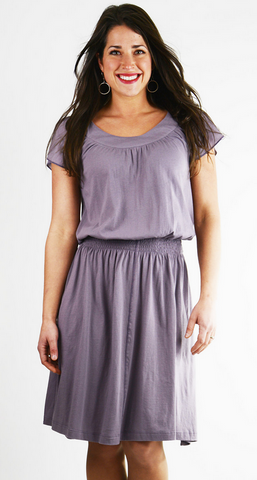 Andalucia Dress- Organic Cotton - Dusty Lavendar
