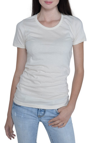 100% Organic Cotton Natural Undyed T-shirt Slim Fit, Illustrated Bee Image printed on this Shirt