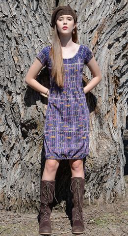 Sharav Klimt Print Dress 100% Organic Cotton