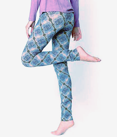 "Organic Cotton ""Ballerina"" Leggings - Watercolor Pring"