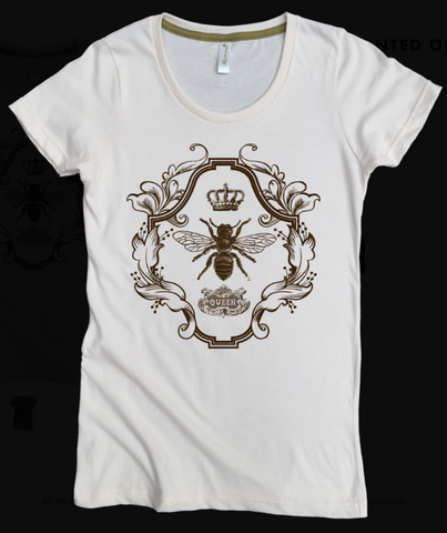 QUEEN BEE Organic Cotton T-Shirt - Available in Natural, Smokey Teal and Golden Honey