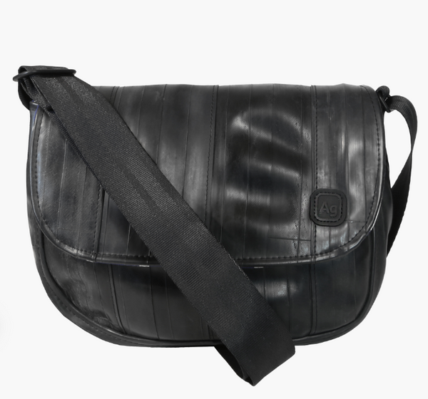 Laurelhurst Handbag - From Upcycled Bicycle Inner Tubes