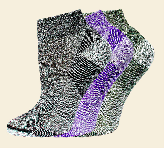 Organic Wool Urban Trail socks by Maggie's Organics