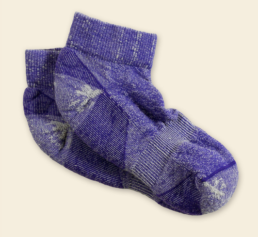 Urban Trail Ankle Socks - Organic Wool for Men & Women in Black, Olive or Purple
