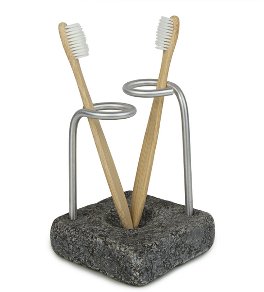Encircle Toothbrush Holder - Reclaimed Granite