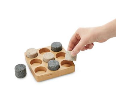 Tria - Decorative Strategy Game for All Ages - Reclaimed Granite and Wood