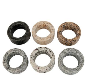 Granite Napkin Rings - Upcycled Set of 4 Assorted Colors