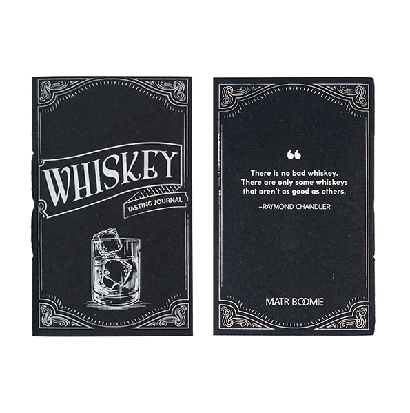 Tree-free Whiskey-Tasting Pocket Journal made with Recycled Cotton Pages