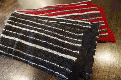 Cuarzo Striped Alpaca Scarf