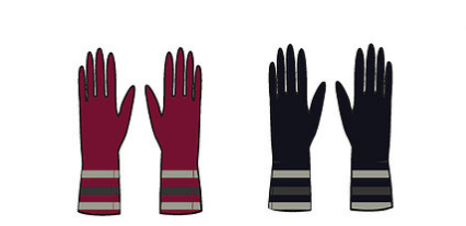 Onyx Alpaca Gloves in Wine or Midnight Charcoal
