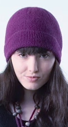 Purple Alpaca Hat