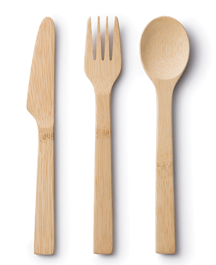Bamboo Utensil Travel kit (without cover)