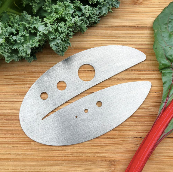 Kale Razor and Herb Stripper - by Raw Rutes, Stainless Steel