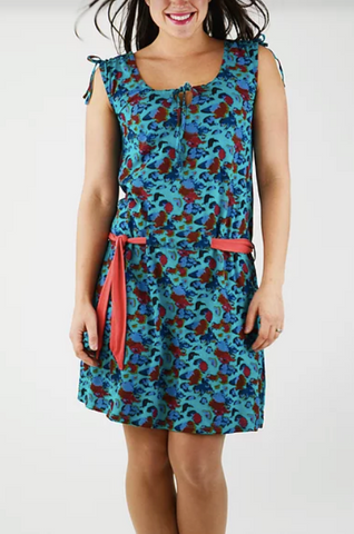 Topaze Dress - Bora Bora Print - Organic Cotton