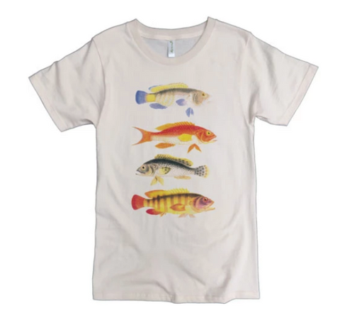 Four Fish Organic Cotton t-shirt for Men, Women and Kids