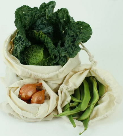 Reusable Organic Cotton Produce Bag Medium