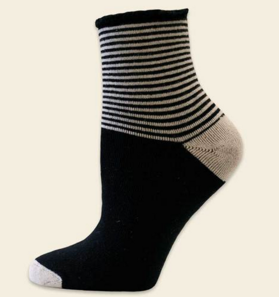 Organic Cotton Striped Recovery Socks