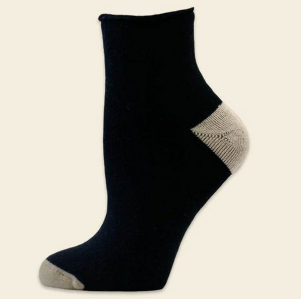 Organic Cotton Black Recovery Socks