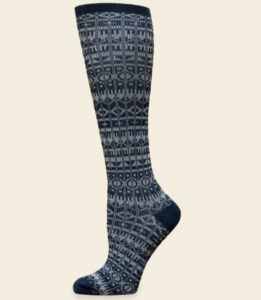 "Organic Merino Wool & Organic Cotton Knee High ""Sweater"" Socks"