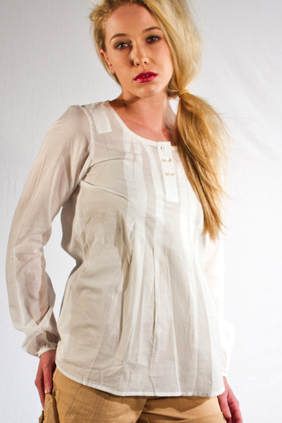 April top, women's organic cotton clothing, organic shirts, fair-trade clothing