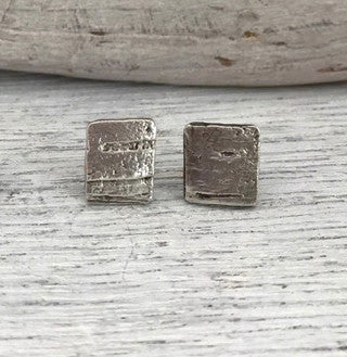 Silver Birch Bark Nature Relic Earrings - Upland Road | Eco-Boutique