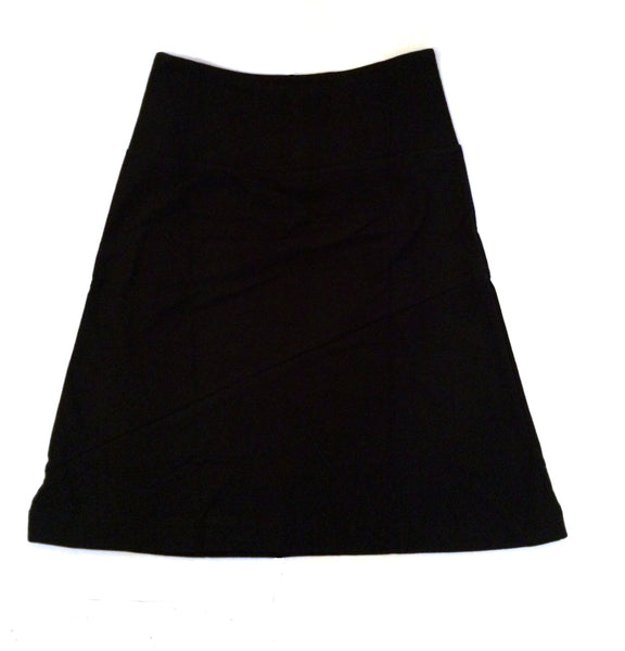 Black organic cotton A-line skirt by Maggie's Organics