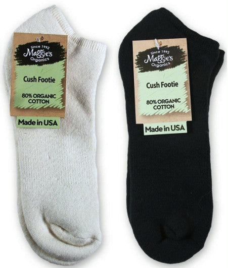 Undyed natural organic cotton socks, black organic cotton socks