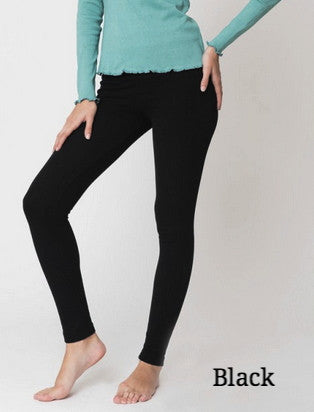 Brody Flatknit Black Organic Cotton Leggings