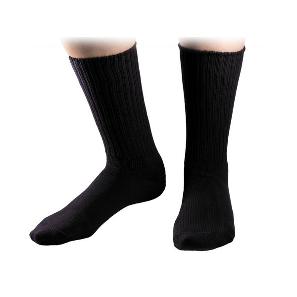 Organic cotton Crew Socks, Maggie's Organics, Upland Road, Black