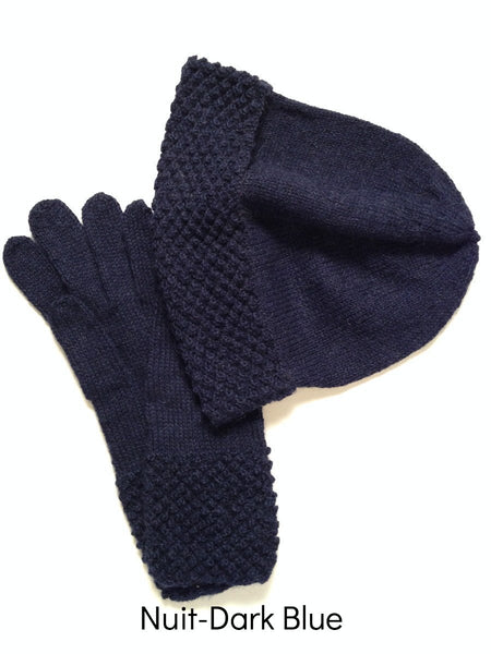 Viola Hat and Gloves. Alpaca by Ethos Paris.