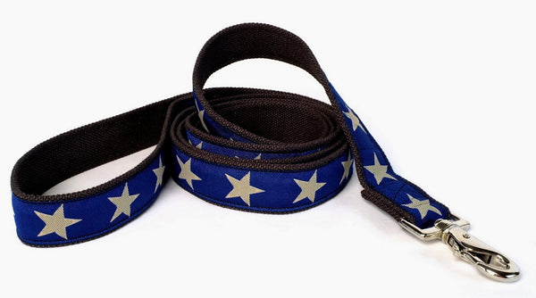 Kody III Decorative Hemp Leash - Blue with stars - earthdog | Upland Road