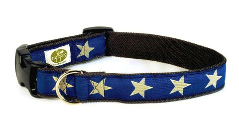 Kody III Decorative Hemp Collar - Blue with stars - earthdog | Upland Road
