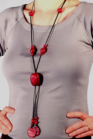 Sustainable Tagua Nut Lariat Necklace