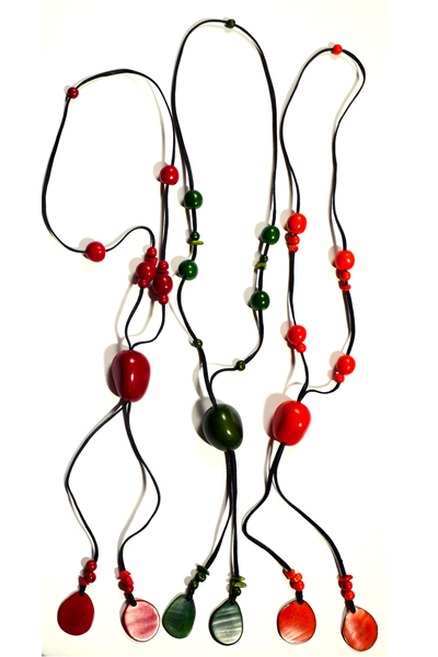 Sustainable Adjustable Lariat Tagua Nut Necklace