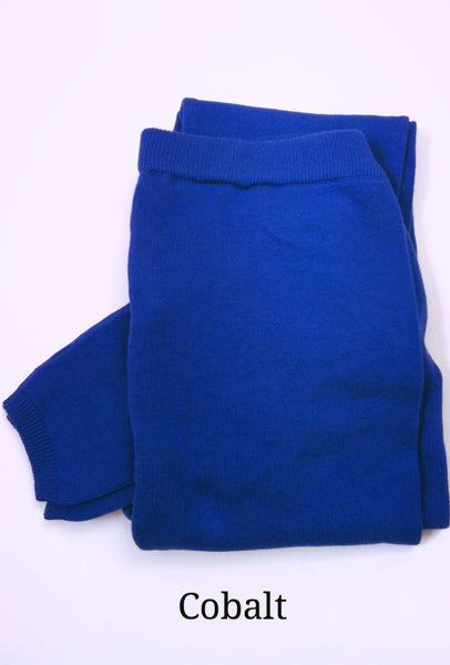 Brody Flatknit 100% organic cotton Leggings - Cobalt Blue, Fair-Trade