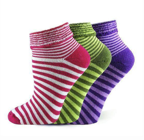 Organic Cotton Striped Snuggle Socks in 3 Color Choices