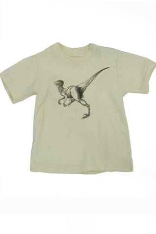 Kids dinosaur tee shirt, organic cotton t-shirt for kids, eco-friendly clothes