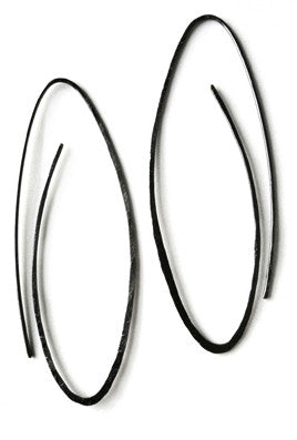 Endless Hoops by Sophie Hughes Jewelry Patina Recycled Silver